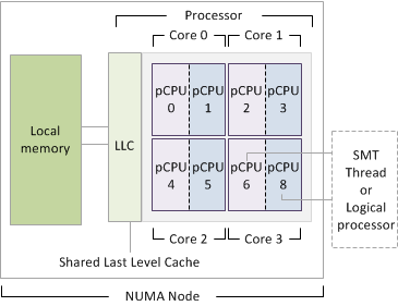 NUMA and CPU elemenents