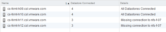 Storage DRS missing datastore connection