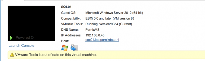 VMware Tools is out of date on this virtual machine while